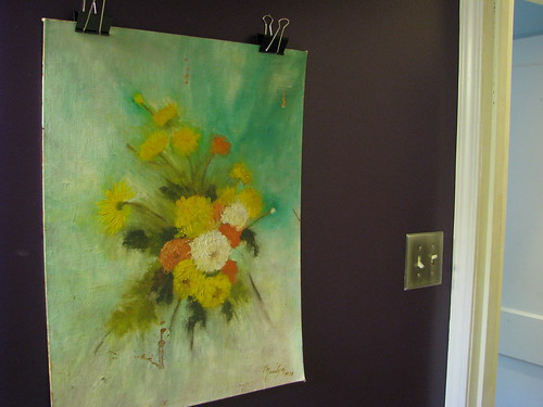 Hanging Art Without A Frame But Staying Away From Thumb Tacks And