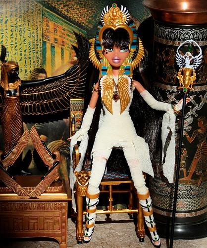 Shadi is an Egyption Preistess Mummy for Halloween