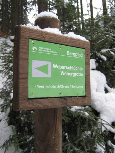 Bergpfadmarkierung Weberschlüchte