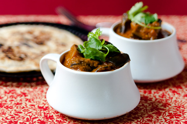 Spiced aubergine stew
