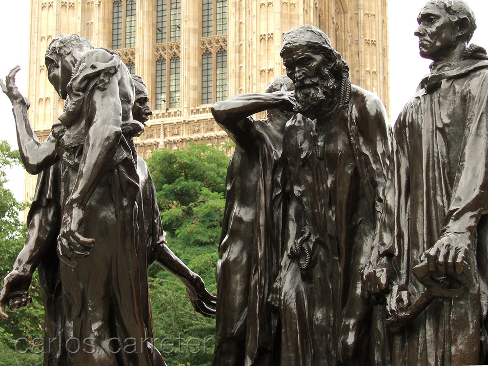 Les bourgeois de Calais (The Victoria Tower Gardens)