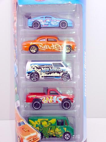 hws graffiti rides 5 car gift set