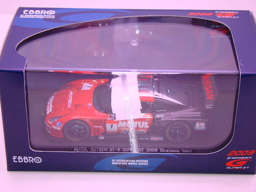 EBBRO MOTUL AUTECH GT-R SUPER GT 2009 OKAYAMA TEST (10)