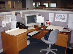 Office cubicle, circa 2001