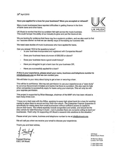 uk music letter May 2010