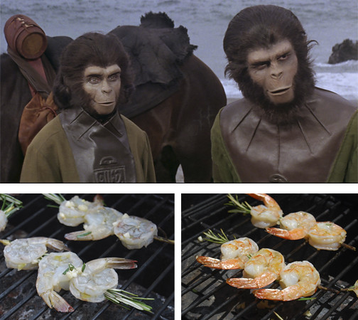Planet of the Apes and Shrimp