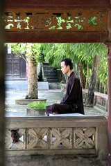 Zen meditation in the pagoda 2