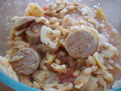 Cassoulet, with turkey sausage