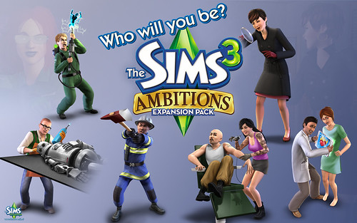 5/7/10 - 2 wallpapers of The Sims 3 Ambitions