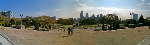 Panorama from the Philadelphia Museum of Art