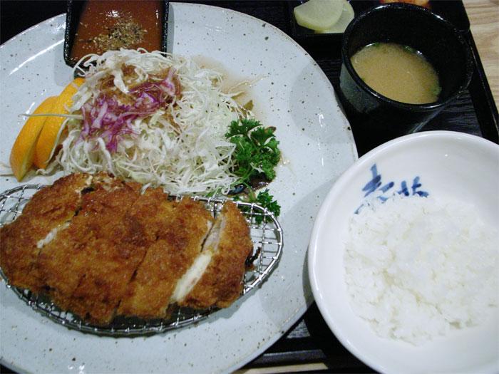 Kimchi pork katsu lunch special