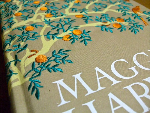 embroidered cover of Maggie's Harvest