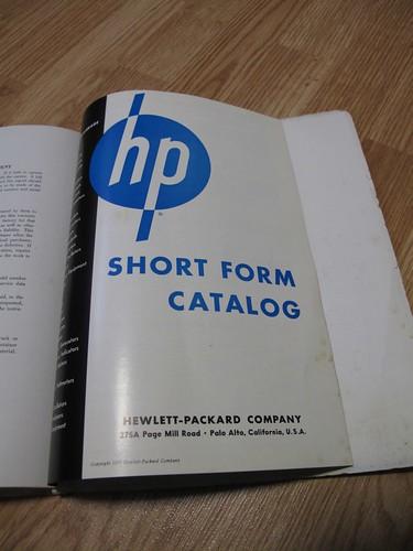 1955 HP short form catalogue