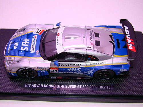 EBBRO HIS ADVAN KONDO GT-R SUPER GT 500 2009 RD.7 FUJI (1)