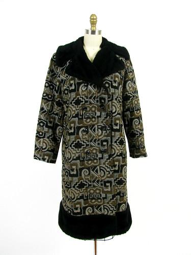 vintage 70s carpet coat