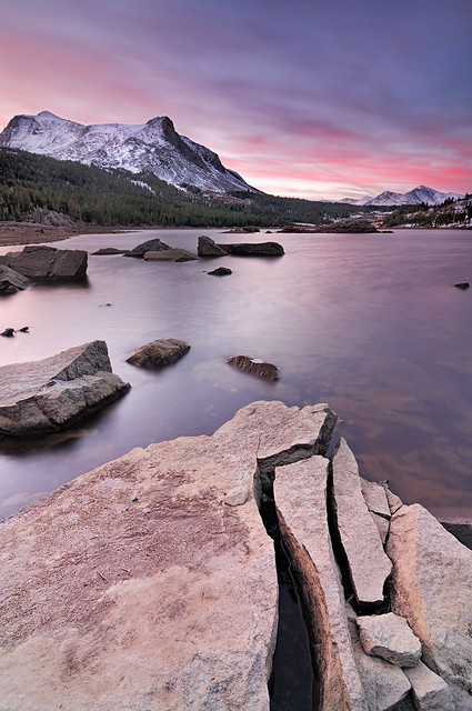 Sunrise at Split Rock, Tioga Lake, Yosemite (Explore #9 :)