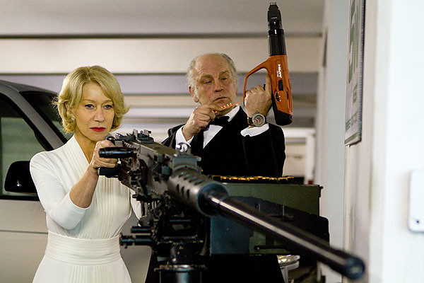 Helen Mirren and John Malkovich in their screen roles in RED