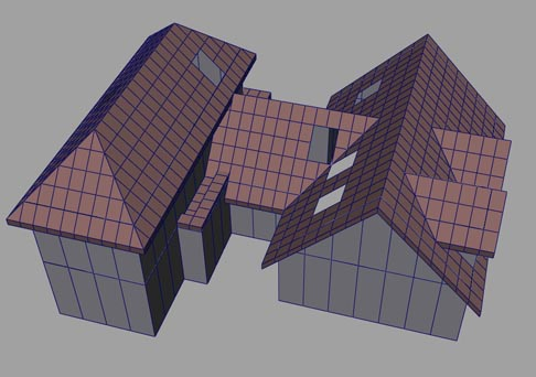 Ocean Quigley's projects:  Sims 2 Roof system & Decorating buildings in SimCity 4
