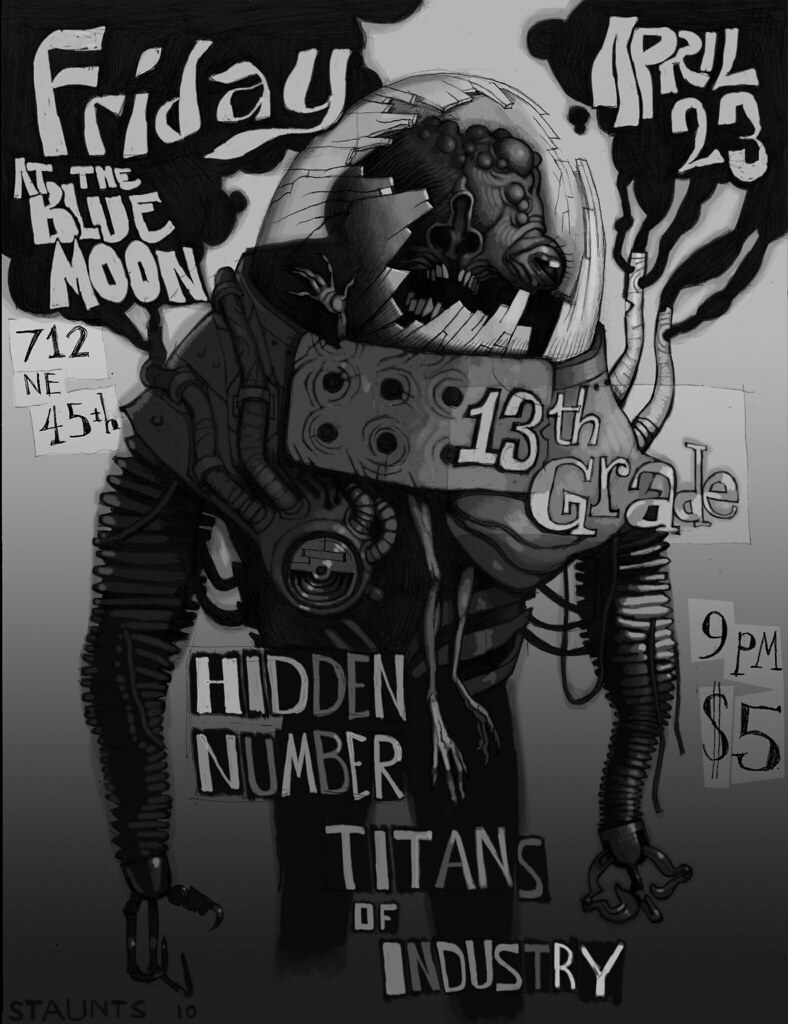 Hidden Number live at Blue Moon, Friday April 23rd