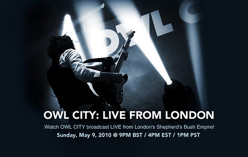 owl city  - live in london