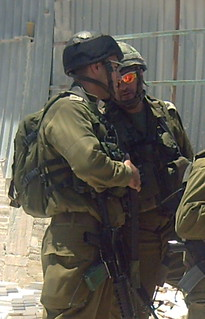 Two Israeli occupation forces captains in Al-M...