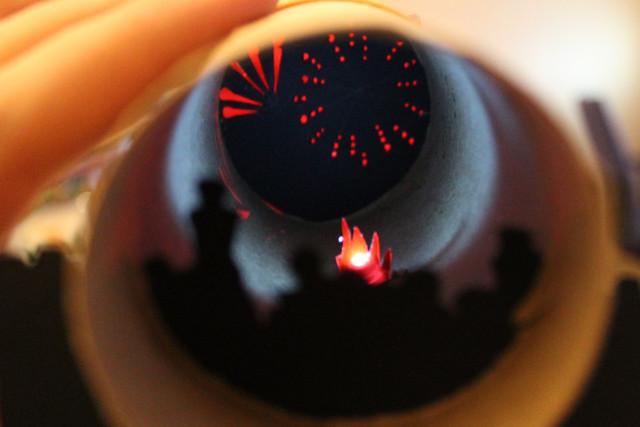 Toilet Tube Fireworks Display - Philippa Warr