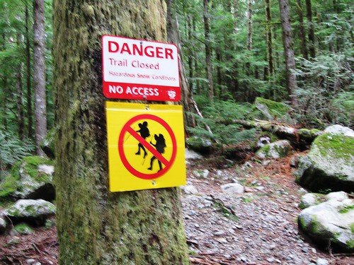 Danger Trail Closed