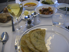 British Airways First Class Meal LHR-MAA