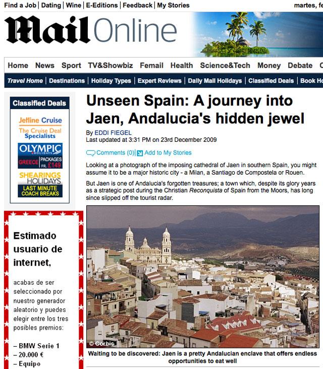 Jaén, en el Daily Mail