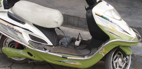 China 2008, electric scooter