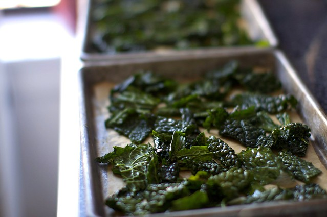kale, ready to bake