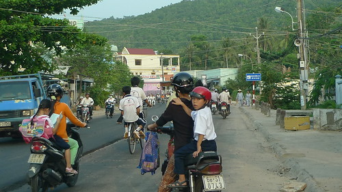 boy on motorbike in phu quoc