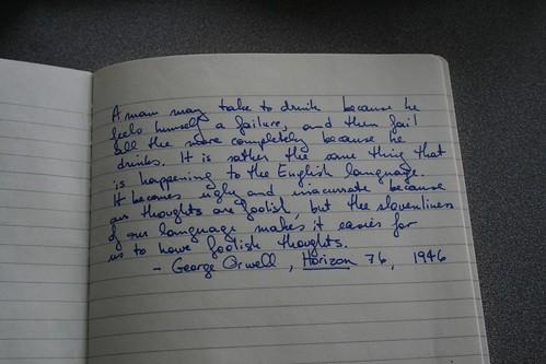 George Orwell on language