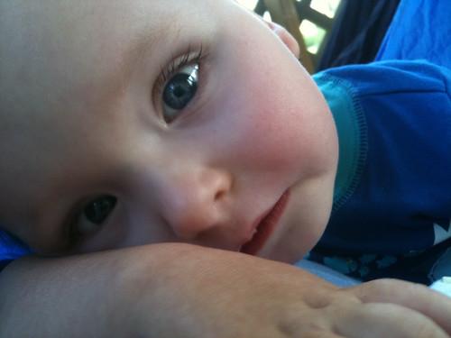 Sick boy in the hammock