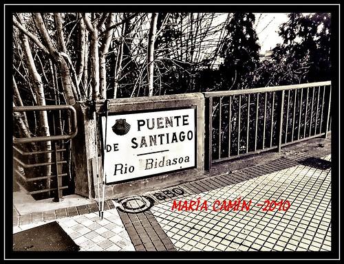 4. Emblemático kilómetro Cero sobre el Bidasoa o Puente de Santiago en Irún Hendaia