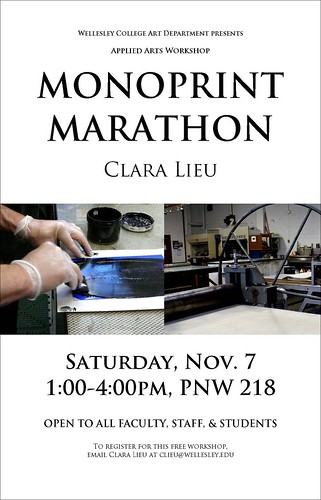 Monoprint Marathon Poster