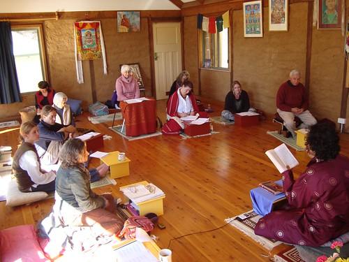 inside Vajra Ling