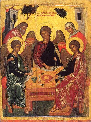 Αποτέλεσμα εικόνας για αγια τριαδα βυζαντινη εικονα