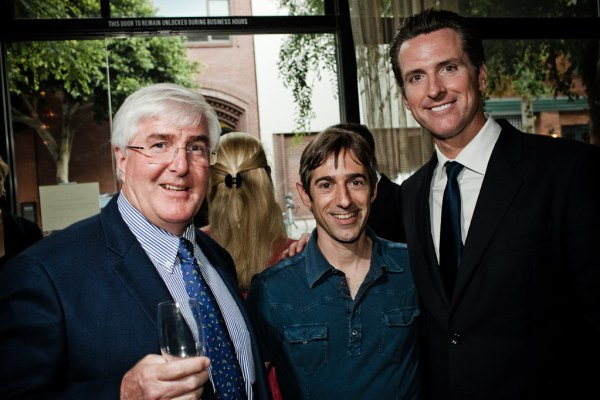 Ron Conway, Mark Pincus, Gavin Newsom