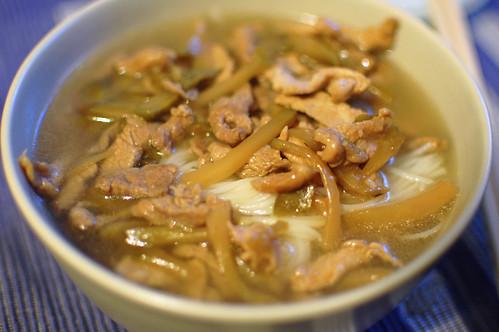 Pork and Preserved Vegetable Noodle Soup