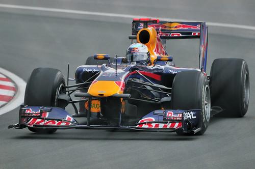 Red Bull Racing driver Sebastian Vettel of Germany in the Senna corner (2010 Canada GP)