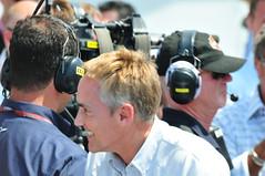 McLaren team principal Martin Whitmarsh ecstat...