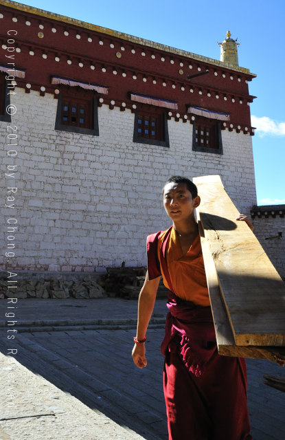 Tibetan youth at Ganden Thubchen Choekhorling Monastery, Litang, Sichuan, China.