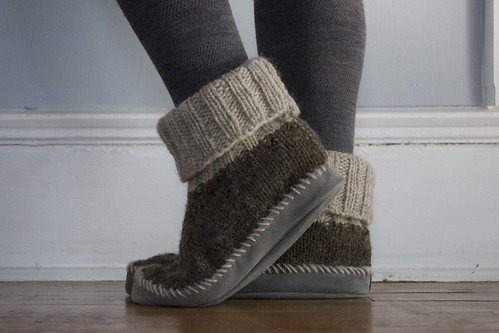 Knitting Patterns For Slippers With Leather Soles : leather soles knitting pretty in dc