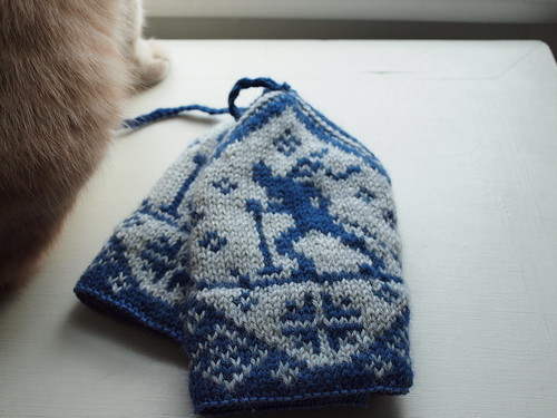 skier hat, with cat