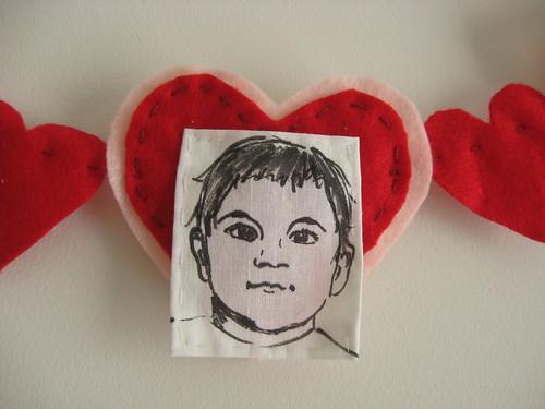 valentines garland - bebe