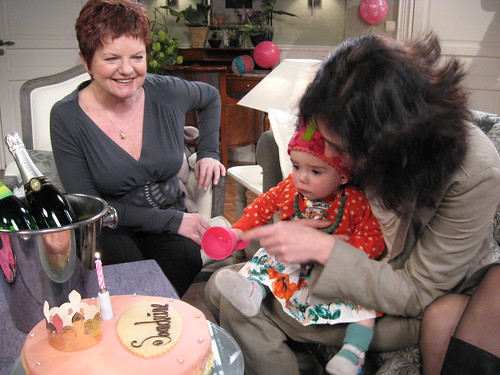 met mama, Jenny en taart!