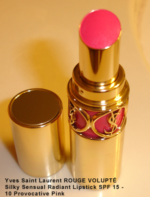 Yves Saint Laurent ROUGE VOLUPTÉ Silky Sensual Radiant Lipstick SPF 15 - 10 Provocative Pink