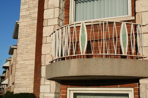 Eyelid window faux balcony railings