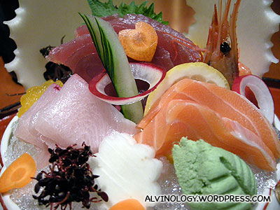 My beautiful sashimi platter